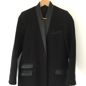 The Kooples Wool, Cashmere & Leather Women's Coat